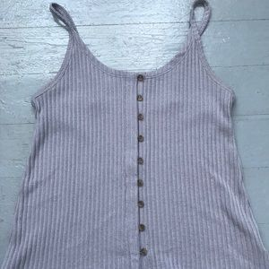 Lilac cropped button front tank size XS